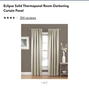 3 new 54 x 84 Blackout panel curtains